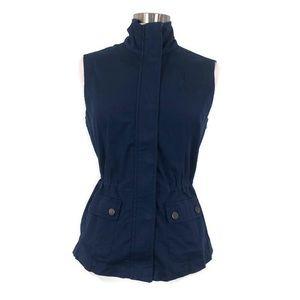 TRIBAL Navy Blue Utility Zip Up Vest